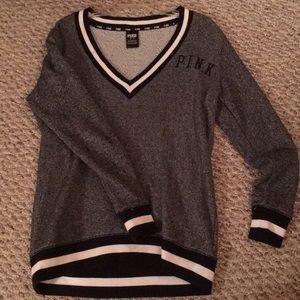 PINK XS grey sweater